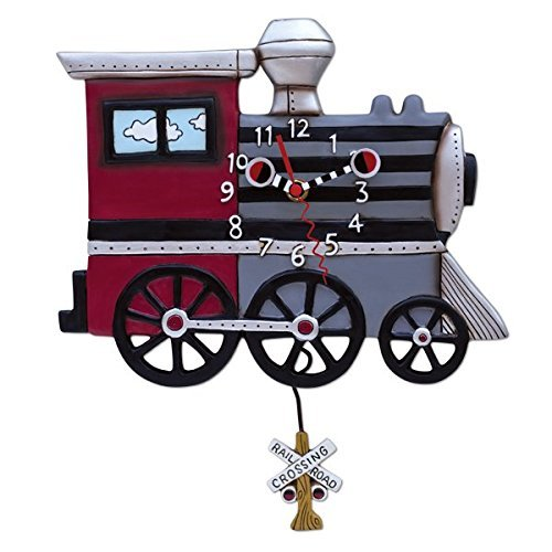 Allen Designs Studios アレンデザイン 振り子時計 掛け時計 チューチュー トレイン 蒸気機関車 鉄道 列車 P1558 [並行輸入品] B01FLPQFJS