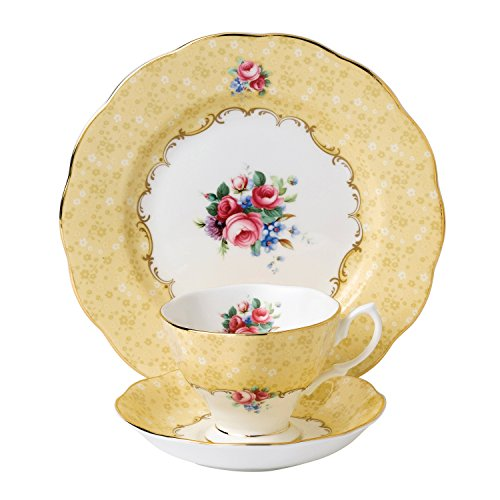 Royal Albert 3 Piece 100 Years 1990 Teacup, Saucer & Plate Set, 8