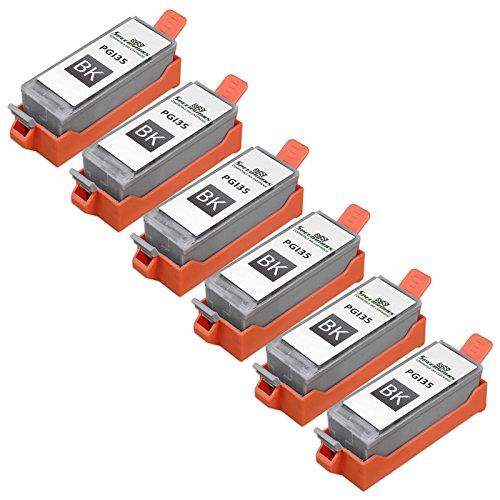 Speedy Inks - 6pk Canon PGI35 PGI-35 Black Compatible Inkjet Cartridge W/ Chip for use in Pixma (Pgi 35 Black Cartridge)