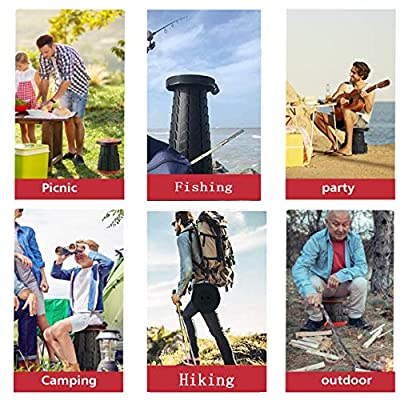 KEING Portable Telescoping Stool, Folding Retractable/Collapsible Stool Can Hold 350 lb, Camping Seat for Travel, Fishing Hiking Beach Activities: Kitchen & Dining