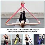 OMERIL-Bande-Elastiche-Fitness-3-Pezzi-2-m-15-m-Fasce-Elastiche-con-3-Livelli-di-Resistenza-Fascia-Elastica-Esercizi-Ideale-per-Yoga-Pilates-Allenamento-di-Forza-e-Flessibilita-Stretching