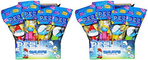 Pez Smurfs Candy Dispenser Party Favors (Pack of 24)