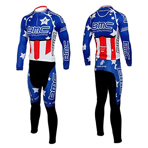 Cycling Jersey Men Thermal Fleece Winter Shirts Long Sleeve Bicicleta Cycle Skinsuits Suit (Suit, - Skinsuit Cycle