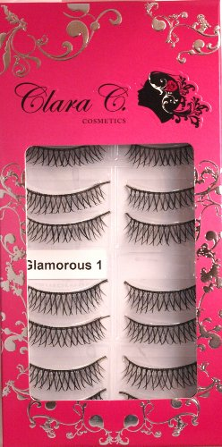 Professional False Eyelashes (10 Pairs) Glamorous Beauty 1: Criss-cross Long Thick