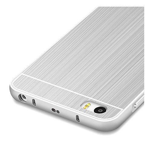 Plata Aluminum Bumper Funda PC Back Case y Protector de Pantalla Para Xiaomi Mi 5 (no es compatible con Xiaomi Mi 4 & Mi 3) Vooway® MS00460