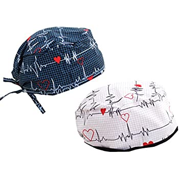 Amazon.com  DOKTORAM Surgical Scrub Cap Medical hat Funny Prints ... 5b161e5e72d