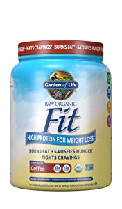 Garden of Life Organic Meal Replacement - Raw Organic Fit Vegan Nutritional Shake for Weight Loss, Coffee, 16 oz