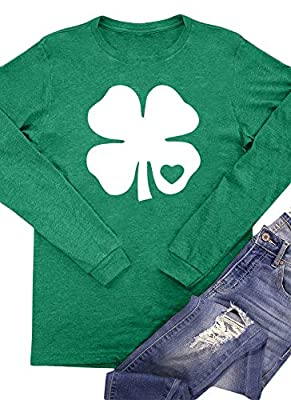 Intimate Boutique Women's St Patrick's Day Irish Long Sleeve Shirt