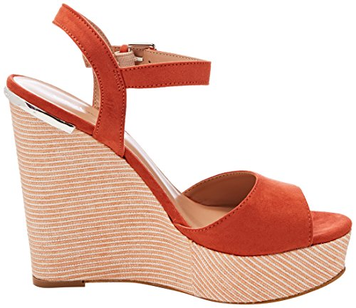 Sandali Arancione Donna con Wedge Cinturino Covered Byblos Caviglia alla Ux4qgTE8nw