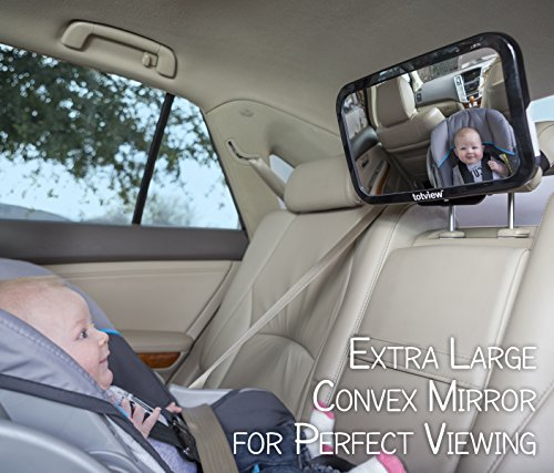 Baby Totview Mirror Of Rear Facing Infant Mount On Vehicle Backseat | Includes Sign