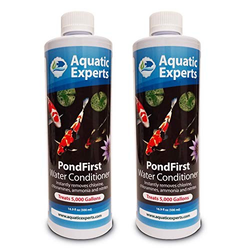 (Aquatic Experts PondFirst Pond Water Conditioner - Concentrated Instant Dechlorinator for Fish Ponds, Makes Water Safe for Koi and Goldfish, Made in The USA (2 Pack))
