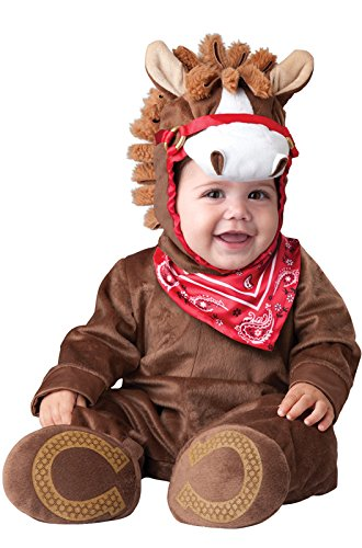 InCharacter Baby Boy's Playful Pony Costume, Brown, Small (Baby Horse Costume)