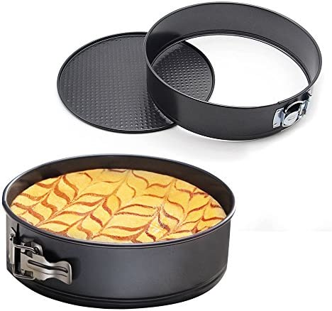 MZCH 7 inches Nonstick Springform Cake Pan Round Cheesecake Pan with Removable Bottom and Quick-Release Latch