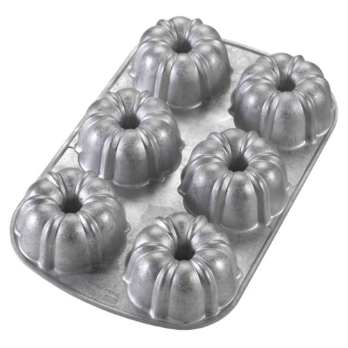 Nordic Ware Commercial Original Bundt Muffin Pan with Premium Non-Stick Coating, 6-Cavity