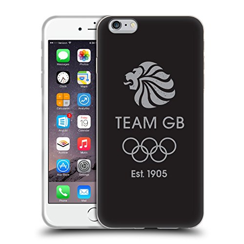 Official Team GB British Olympic Association EST Grey Logo Soft Gel Case for Apple iPhone 6 Plus / 6s Plus