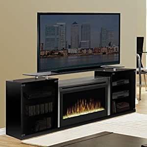 Marana 76 tv stand with electric fireplace - Going to bed with embers in fireplace ...