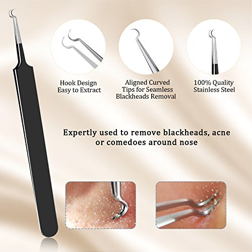 BESTOPE Upgraded 6-in-1 Professional Stainless Blackhead Remover