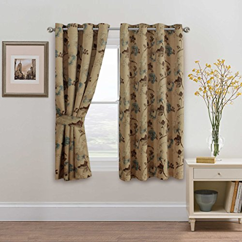 H.Versailtex Classical Vintage Floral Pattern Thermal Insulated Blackout Room Curtains with Antique (Floral Curtain Pattern)