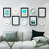 Home@Wall photo frame Composite solid wood Photo Frame Wall Sets Of 10, Three-dimensional Photo Frame Wall Sets Combination Decorative Paintings Set ( Color : A )