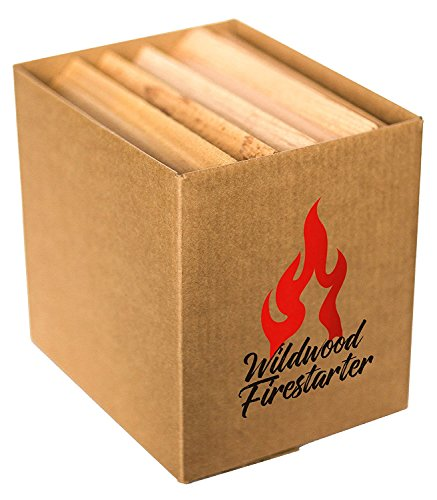 Wood Fire Grilling Co. Kiln-Dried Boxed Kindling | Easy-Light Fire Starters | All Natural Western Red Cedar (0.5 Cubic Foot)