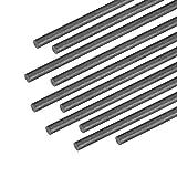 uxcell 2mm Carbon Fiber Bar for RC Airplane Matte Pole US, 200mm 7.8 inch, 10pcs