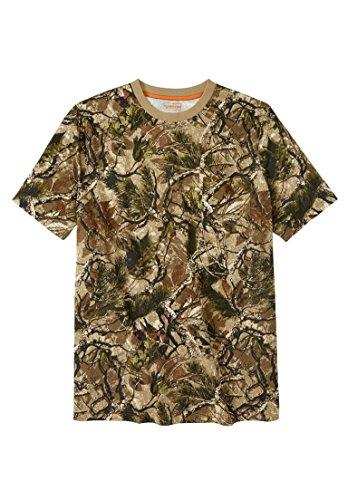 Ride Heavyweight T-shirt (Boulder Creek Men's Big & Tall Longer-Length Pocket Crewneck Tee, Woods Camo)