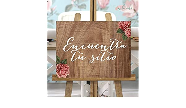 Noviembre Dulce Cartel de Boda Encuentra tu Sitio: Amazon.es ...
