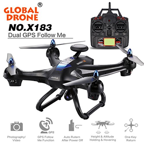 Lookatool Global Drone X183 With 5GHz WiFi FPV 1080P Camera GPS Brushless Quadcopter BK