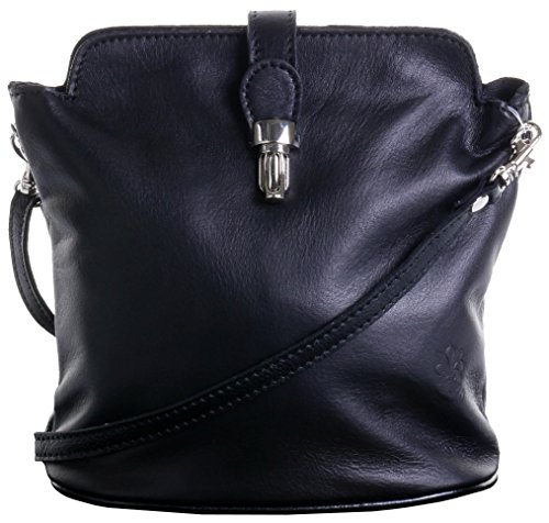 Primo Sacchi Italian Soft Leather Hand Made Small Black Cross Body or Shoulder Bag ()