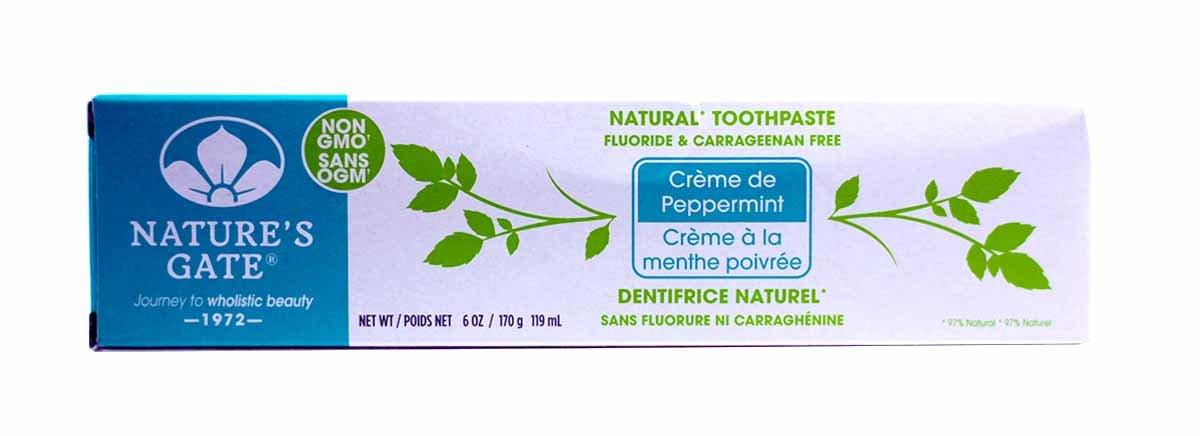Nature's Gate Fluoride-Free Natural Creme toothpaste, Creme de Peppermint - 6 oz - 2 pk
