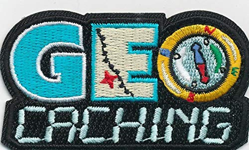 Girl Boy Cub GEO CACHING Black Fun Patches Crests Badges Scout Guide Geocaching by De_saga