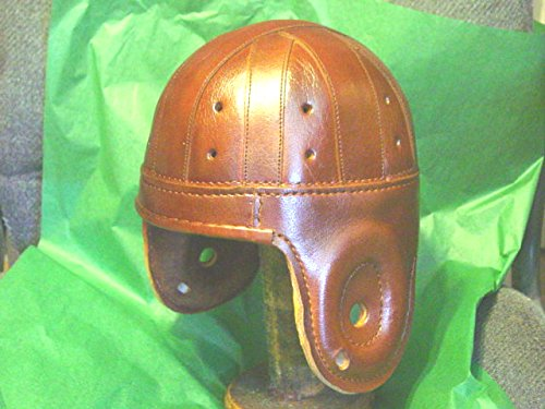 Cordovan Rust Leather Football Helmet -