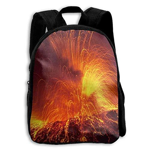 Yellowstone National Park Super Volcano Melting Kid Boys Girls Toddler Pre School Backpack Bags Lightweight - (Oxford Volcano)