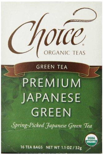 Choix biologiques de qualité Thé Vert Japonais, 16 Count Box