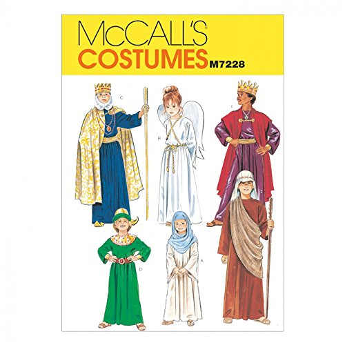McCalls Childrens Sewing Pattern 7228 Christmas Nativity Costumes ()