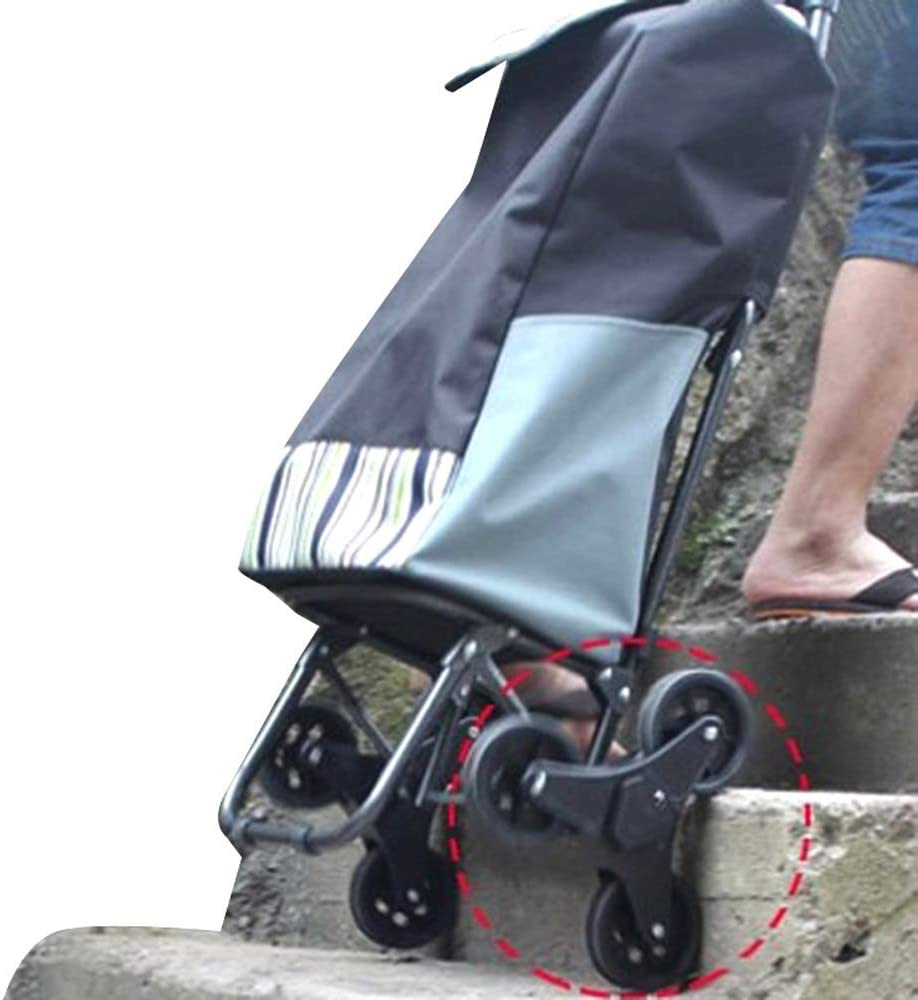 JQWGYGWC Two-Wheeled Folding Shopping cart Supermarket Shopping cart Portable Three-Wheeled Chair trolleys trolleys Elderly People Shopping carts