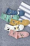 5 pairs of dress cotton cute new winter wind Kitten Japanese School in tube socks