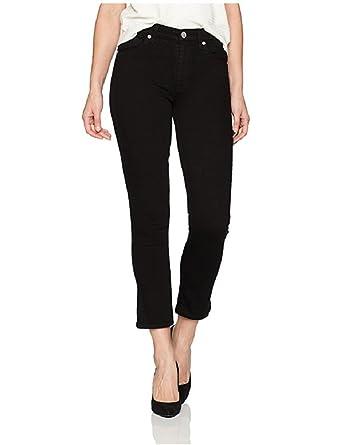 11ba387b327 Hudson Jeans Women's Harper High Rise Crop Baby Kick Flare in Black  WHC526TEQ BLK (Waist