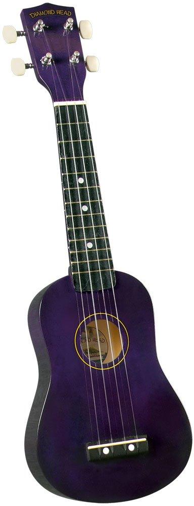 Diamond Head DU-108 Rainbow Soprano Ukulele - Purple