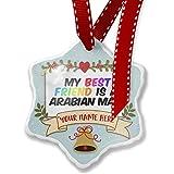 Add Your Own Custom Name, My best Friend a Arabian Mau Cat from Arabian Peninsula Christmas Ornament NEONBLOND