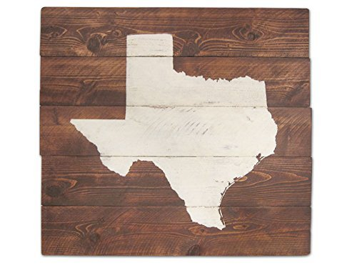 Elegant Rustic Texas Wall Art, State Sign, Home Decor, Map Art,