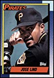 1990 Topps Baseball #168 Jose Lind Pittsburgh Pirates Official MLB Trading Card (stock photos used) Near Mint or better condition