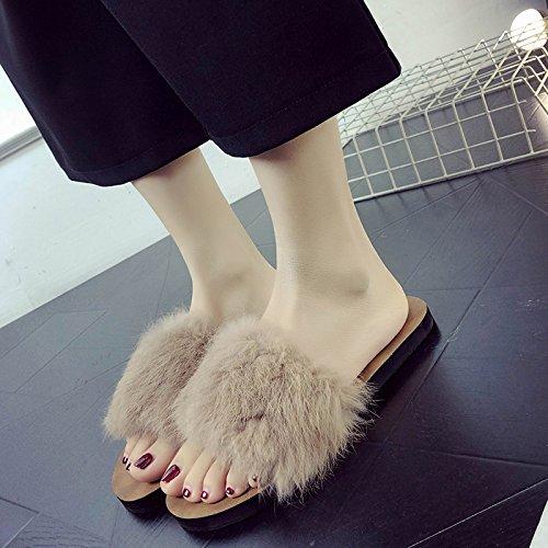 fankou Zapatillas Moda Exterior Antideslizante Marrón Verano y Cross Fondo Cool Femenino Expuestos de Calzado 39 de Plano rIw6rqFSx