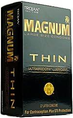 Trojan Condom Magnum Thin Lubricated 12Pc
