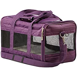 Sherpa Travel Original Deluxe Airline Approved Pet Carrier, Large, Plum