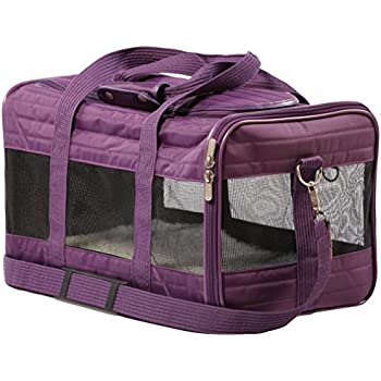 8b97105ee4 Sherpa Travel Original Deluxe Airline Approved Pet Carrier, Small, Plum