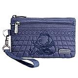 LIGANLIFE Women's Clutch Bag Water Resistant Polyester Wristlet Bag Rfid Protection (Royal blue)