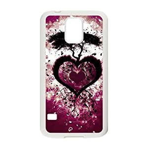 Custom New Cover Case for SamSung Galaxy S5 I9600, Love Tree Phone Case - HL-R657932 hjbrhga1544