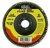 Hot Max 26278 4-Inch x 5/8-Inch Arbor Flap Disc, 80 Grit, Blue Zirconia