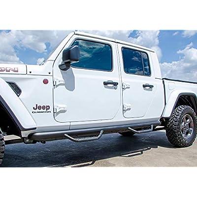 N-FAB Nerf Steps | J1980T | Textured Black, Full Length - fits 2020 Jeep Gladiator (JT), 4 Door: Automotive